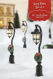 mini lights for christmas village christmas village 3 brush trees accessory snow st saint nick
