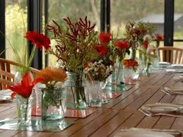decor amusing table decoration with glass vase flowers