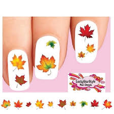 thanksgiving decals thanksgiving fall autumn leaves assorted waterslide nail decals