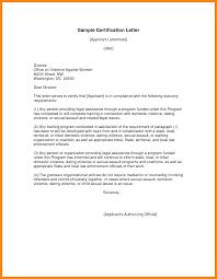 Certification Letter For Confirmation 9 sample of certification letter nurse resumed