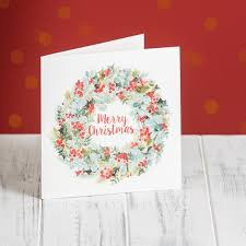 morrisons morrisons berry wreath cards 10 per pack