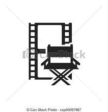 chaise de cinéma directeur cinematographic chaise icône cinéma vecteur