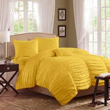 Yellow Bedding Set Ruched Bedding