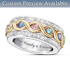 family birthstone rings womens ring family is forever personalized ring
