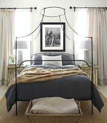 wrought iron canopy bed frames black metal four poster bed frame