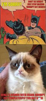 Create A Grumpy Cat Meme - shut up bat b h imgflip