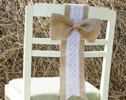 Vintage Wedding Chair Sashes Rustic Wedding Chair Rustic Wedding Rustic Wedding Chair