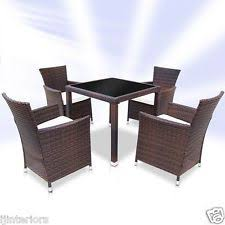 rattan table and chair set ebay