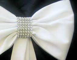 wedding pew bows with some bling pew bows rhinestones and tulle set wedding