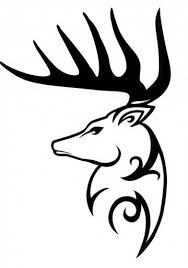 100 best red deer siluets graphic tatoo images on pinterest