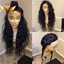 are there any full wigs made from human kinky hair that is styled in a two strand twist for black woman custom made human hair wigs for black women braided lace front