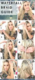 braided hairstyle instructions step by step waterfall braid with hair rings hair tutorial hair extensions
