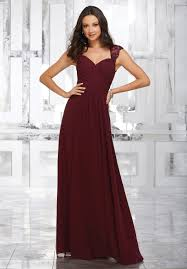 dresses for bridesmaids chiffon bridesmaids dress with beaded and embroidered straps
