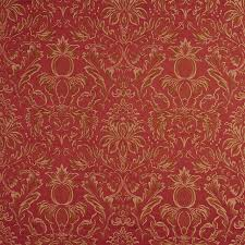 Maroon Upholstery Fabric Gold Purple Green Pineapple Damask Upholstery Drapery Grade Fabric