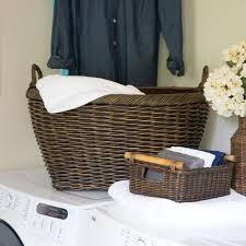 oval wicker laundry basket the basket lady