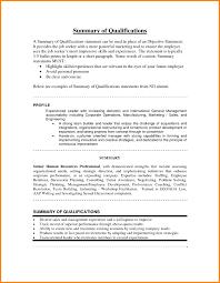 exles of a summary on a resume resume exles exle of resume summary statement www
