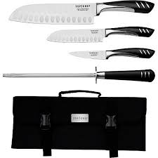 walmart kitchen knives top chef 5 knife set including carrying walmart com