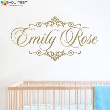 Nursery Wall Mural Decals Personalized Baby Name Wall Decal Vinyl Sticker Home Decor