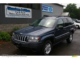 2004 jeep grand cherokee laredo 4x4 in steel blue pearl 395781