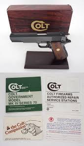 colt government model mkiv series 70 semiauto pistol 45 acp very