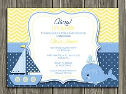 nautical baby shower invitations whale nautical sailboat birthday invitation yellow chevron