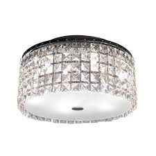 Flushmount Lighting Shop Bazz Glam 11 In W Chrome Flush Mount Light At Lowes Com