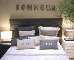 coussin tete de lit alinea coussin tete de lit polycoton 40 x 70 cm gris rideaudiscount