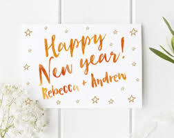 cards new year happy new year card etsy