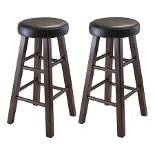 Round Bar Stool Covers Decorating Marta Stool With Pu Leather Round Stool Cushions And