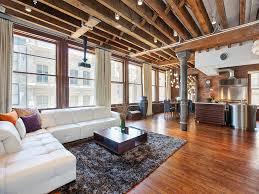 Lofted Luxury Design Ideas Wood Brick Add Traditional Design In Luxurious Soho Loft