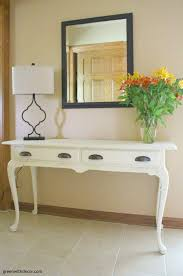 White Foyer Table A Foyer Table Makeover With Clay Paint Green With Decor