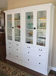 ikea hemnes glass door cabinet ikea hackers turning ikea hemnes into built ins kitchen