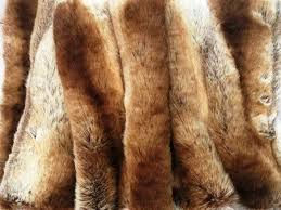 Rust Comforter Fox Amber Rust Brown Ivory Chinchilla Fake Faux Fur Blanket Throw