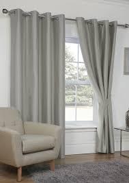 faux silk blackout silver eyelet curtains com