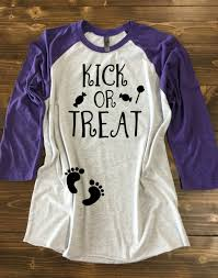 pregnant halloween shirt skeleton kick or treat pregnancy halloween shirt pregnancy baseball