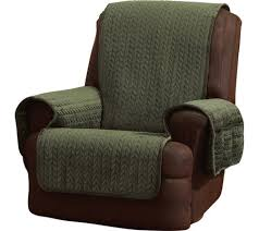 Quilted Recliner Covers Sure Fit Quilted Cable Reverse To Sherpa Recliner Furniture Cover