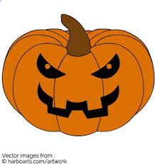 download evil pumpkin face vector graphic