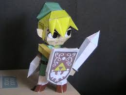 Master Sword Papercraft - wind waker link papercraft by may7733 on deviantart