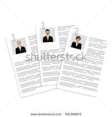 Resume Job Search by Vector Illustration Cv Resume Report Design Stock Vector 550362211