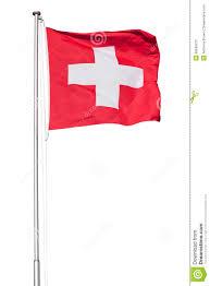 White Cross On Red Flag Schweizer Flagge Auf Weiß Stockfoto Bild Von Tonhöhenschwankung