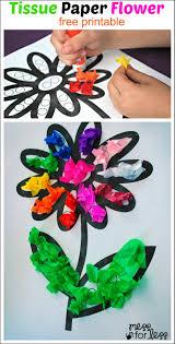 tissue paper flower art activity mess for less