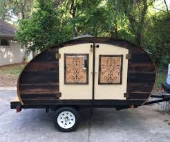 offroad teardrop camper reclaimed wood micro teardrop trailer 16 steps with pictures