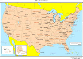 Map Of Us States And Cities by Map Of Usa With States And Capitals And Major Cities Map Of Usa