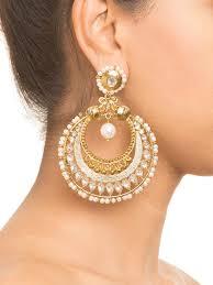 big ear rings buy big gold baala earrings by shillpa purii at jivaana
