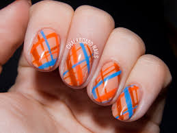 autumnal orange plaid gel nail art chalkboard nails nail art blog