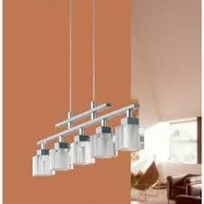 Kitchen Lighting Home Depot by Eglo Almera 3 Light 59 In Hanging Matte Nickel Island Light