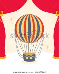 circus balloon vector illustration circus balloon card concept stock vector