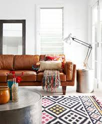 Modern Sofa Living Room The New Bohemians Leather Sofas Colour Pop And Leather