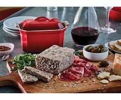 heritage pate terrine with press le creuset