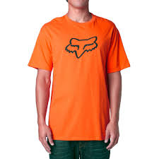 fox motocross logo racing legacy foxhead ss tee t shirt mens orange motocross